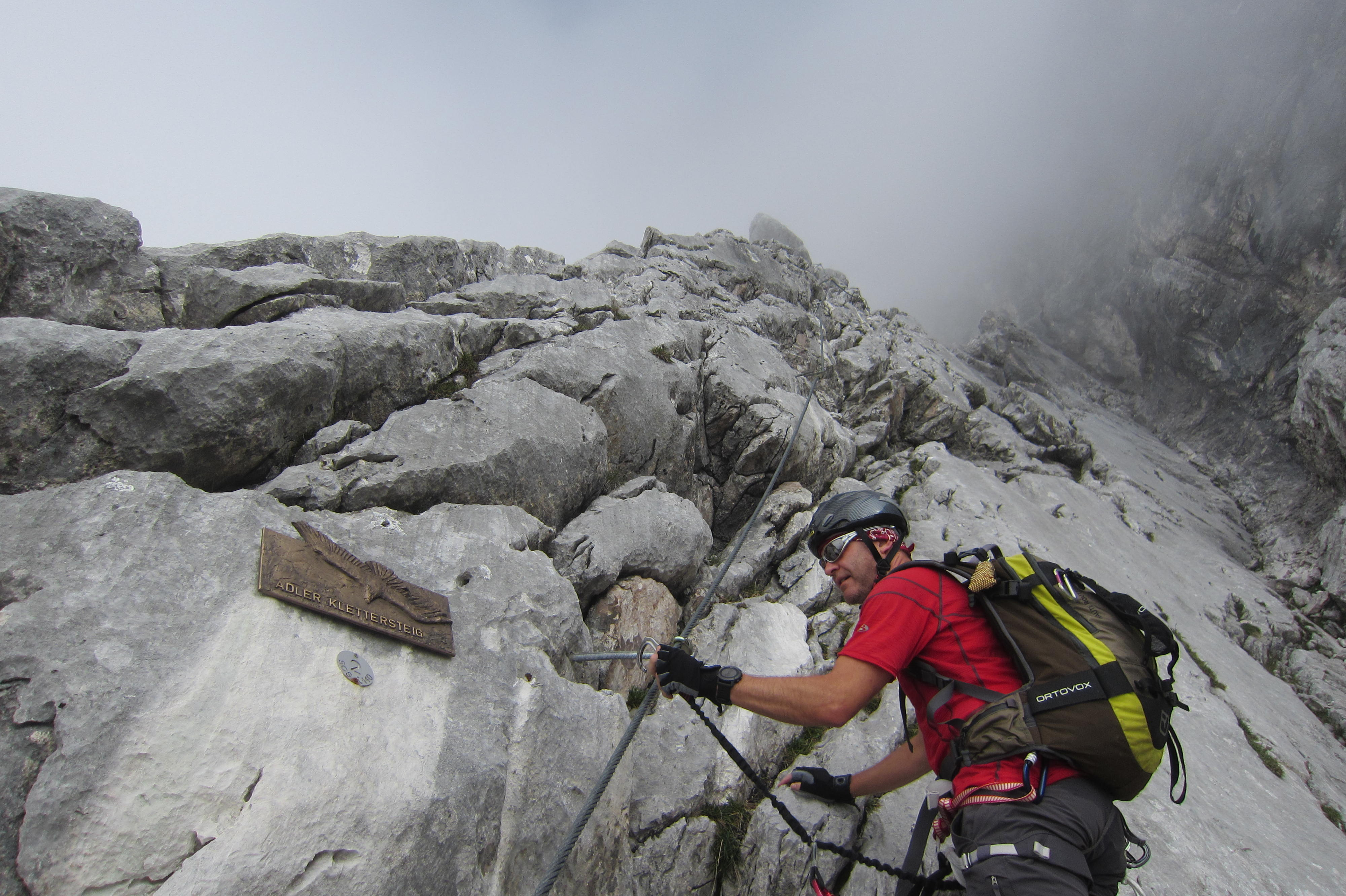 Klettersteig Outfit : Karkopf m ü d über adler klettersteig u der halltaler