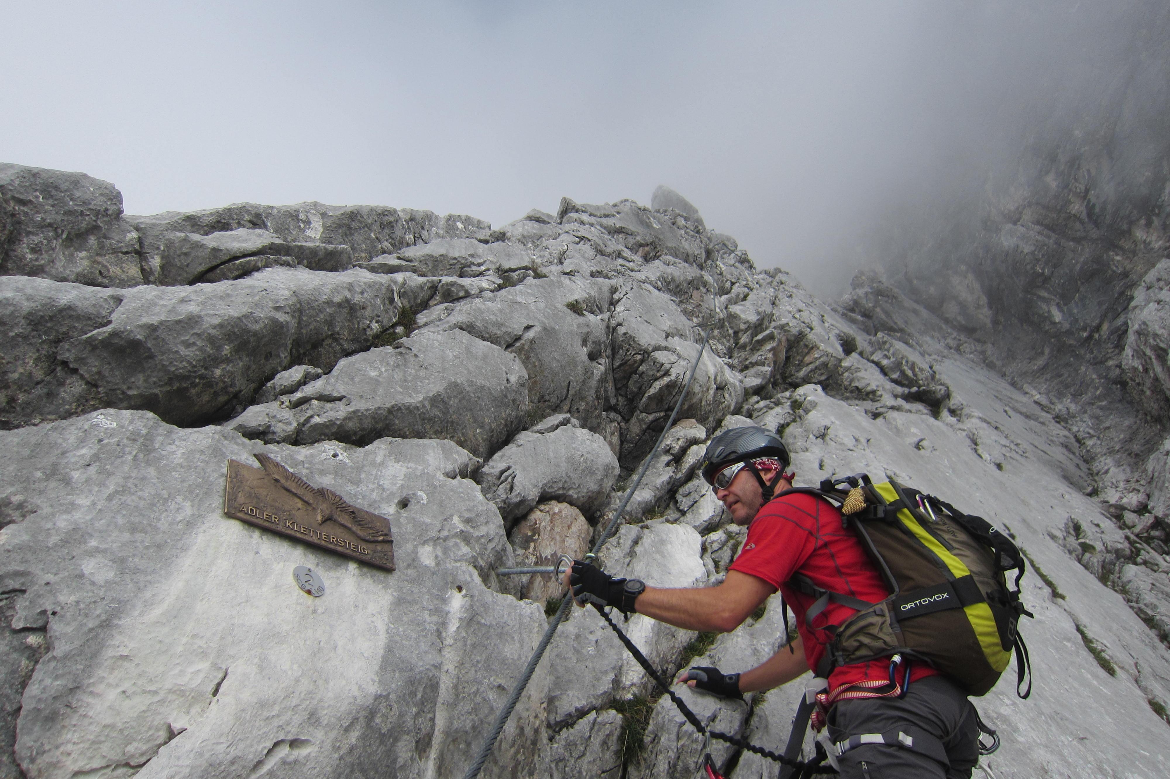 Klettersteigset Bergzeit : Karkopf 2.469 m.ü.d.m über adler klettersteig u2013 der halltaler